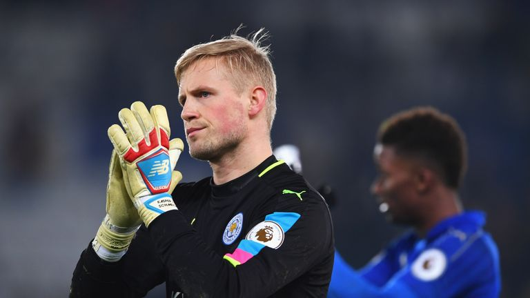Kasper Schmeichel and Leicester are currently just one place and one point above the relegation zone in the Premier League