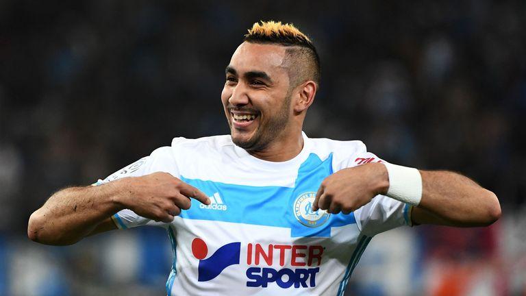 Marseille's Dimitri Payet celebrates after scoring