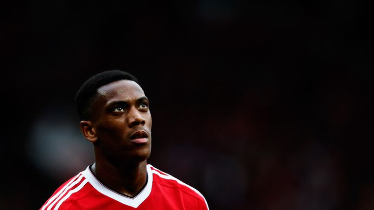 Anthony Martial has seen his playing time limited under Jose Mourinho