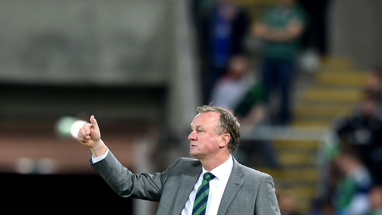 Michael O'Neill is hoping to guide Northern Ireland to a runners-up spot behind world champions Germany in Group C