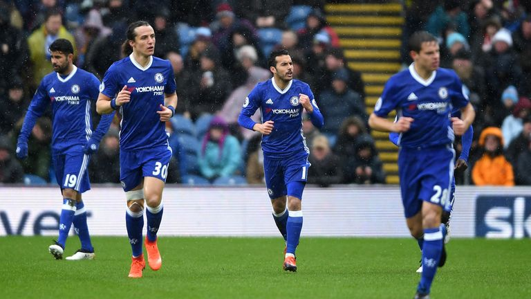 Chelsea are eight points clear at the top of the Premier League