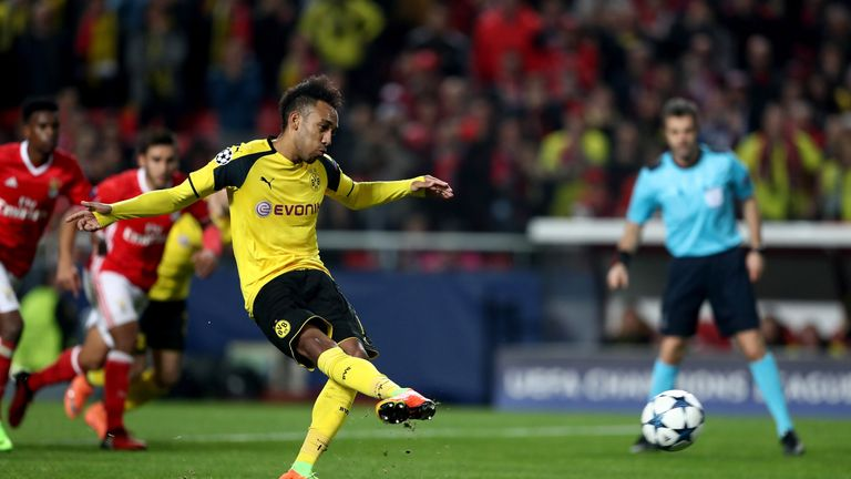 Pierre-Emerick Aubameyang had plenty of chances but couldn't convert for Dortmund