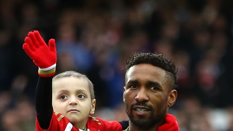 The Helen Rollason Award was presented to the parents of Bradley Lowery (left)