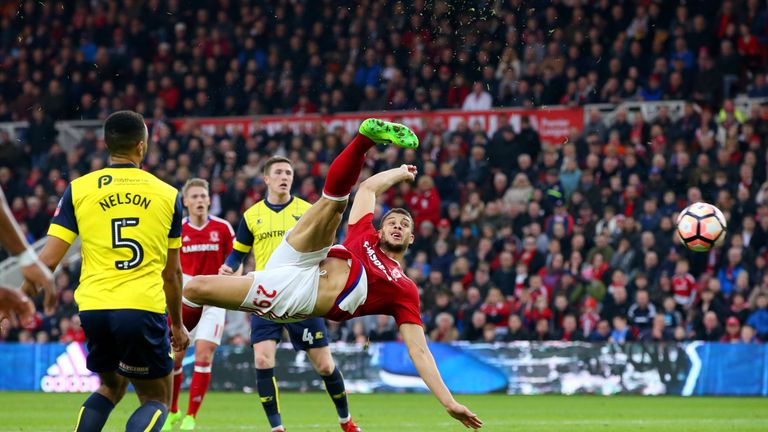 Rudy Gestede scored a fine second for Middlesbrough