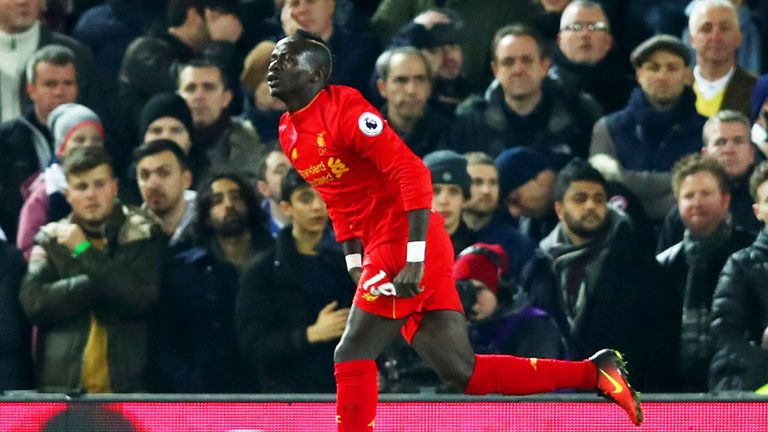 Sadio Mane is Liverpool's top scorer this season with 13 goals