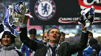 Jose Mourinho is undefeated in cup finals in England