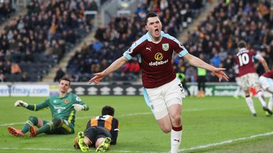 Michael Keane was involved in the action at both ends of the field