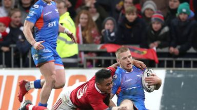 Johnny McNicholl scored one of Scarlets' three second-half tries