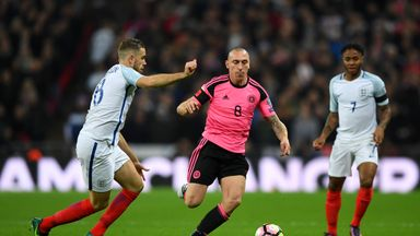 Scott Brown came out of retirement to play against England in November