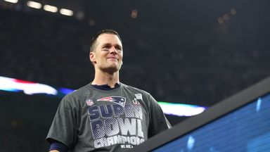 Tom Brady swapped his jersey for a t-shirt at the post Super Bowl celebration