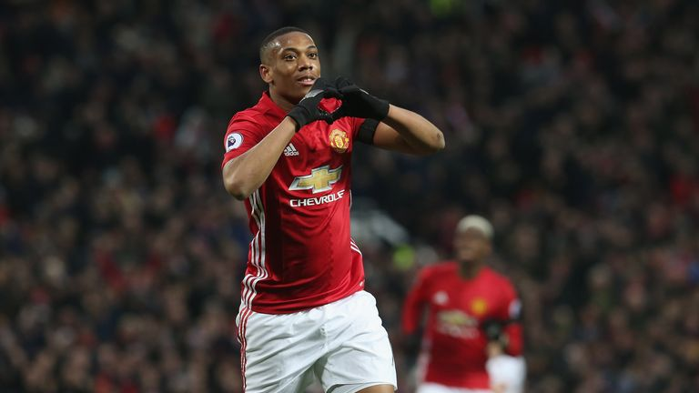 Anthony Martial celebrates