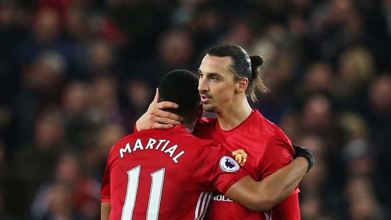 Zlatan Ibrahimovic (right) is helping Manchester United's young players, says Eric Cantona