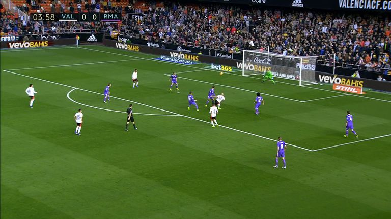 Former West Ham flop Simone Zaza gave Valencia an early lead against league leaders Real Madrid at the Mestalla.