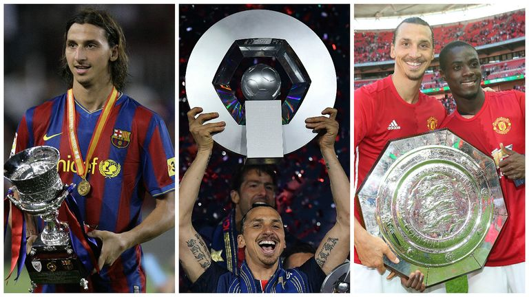 Zlatan Ibrahimovic is not stranger to trophy triumphs