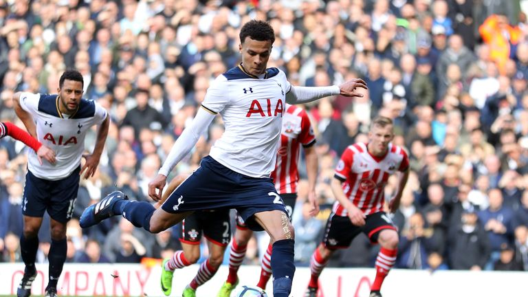Dele Alli's penalty helped secure Tottenham's tenth home win in a row on Sunday