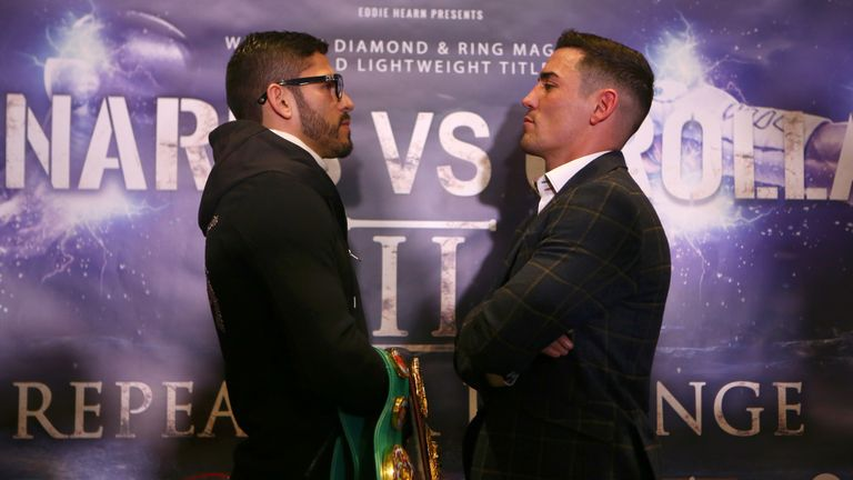 Jorge Linares and Anthony Crolla face off at their pre-fight press conference