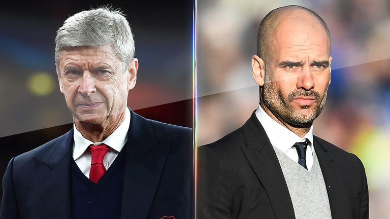 Arsene Wenger and Pep Guardiola face off at the Emirates