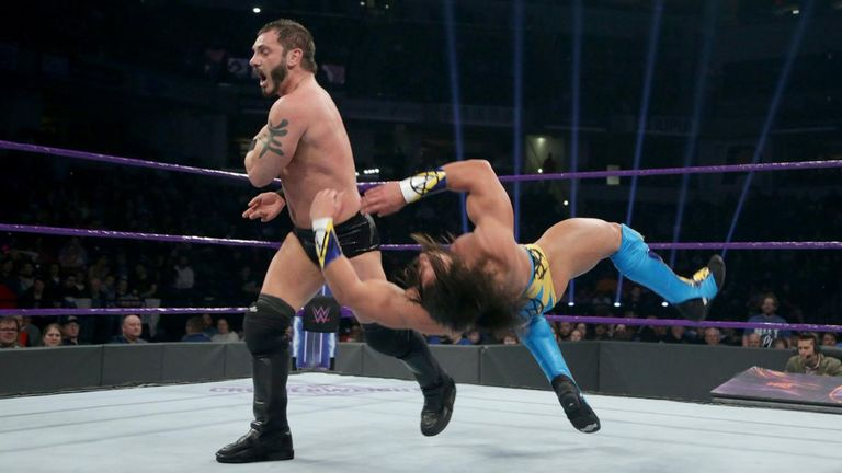 Austin Aries wrestling in 205 Live, Image source: Sky Sports