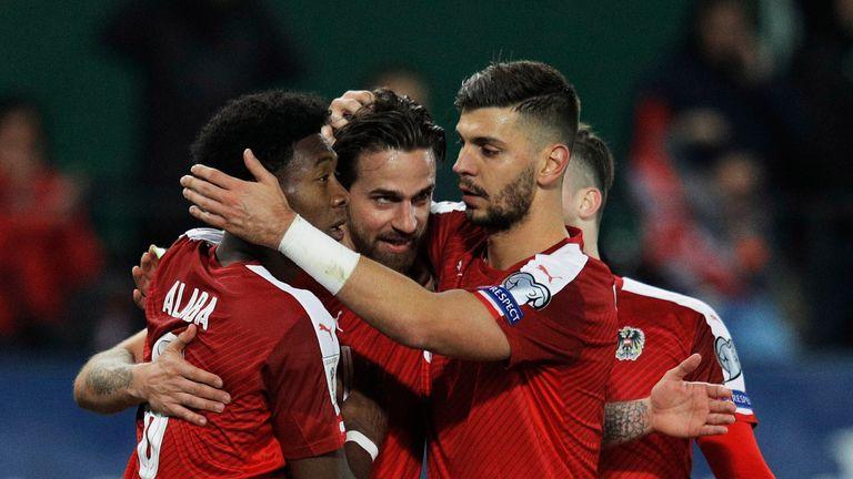 Austria beat Moldova 2-0 in Group D