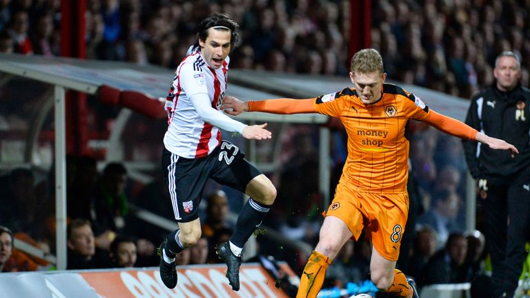 George Saville of Wolves and Jota of Brentford