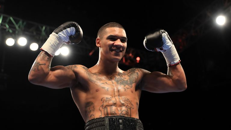 Conor Benn was halfway through his broken jaw absence