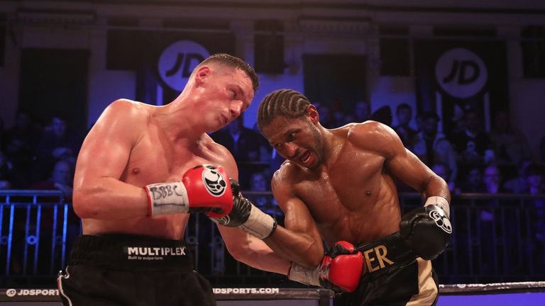Both fighters dug deep in the last few rounds at York Hall
