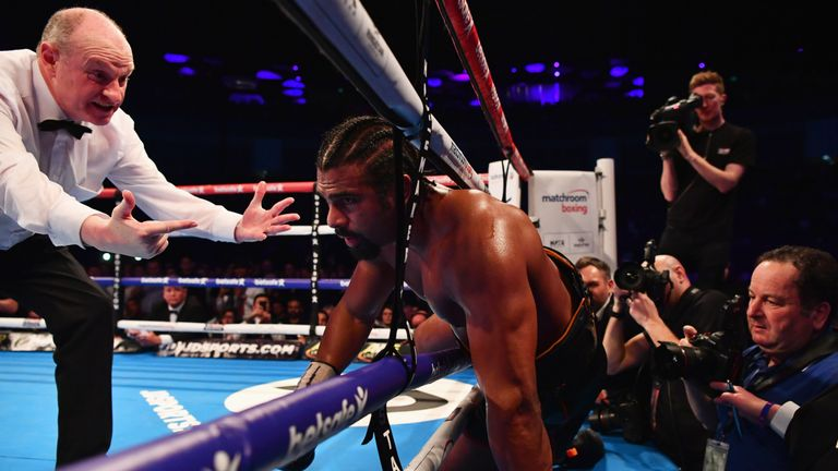 David Haye struggled with an Achilles injury from Round Six