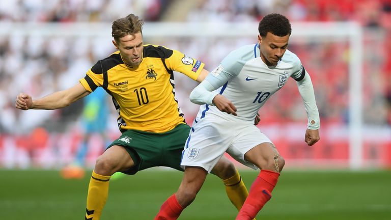 England beat Lithuania 2-0 when they met at Wembley in March 2017