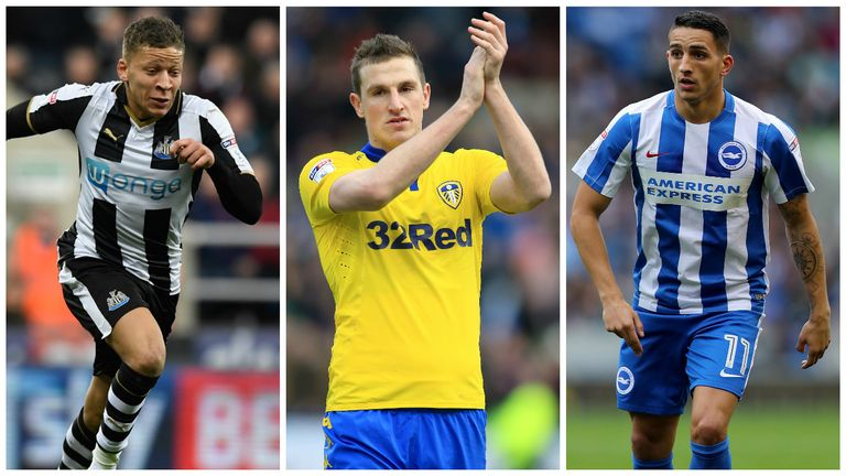 Dwight Gayle, Chris Wood and Anthony Knockaert have been named in an EFL select XI