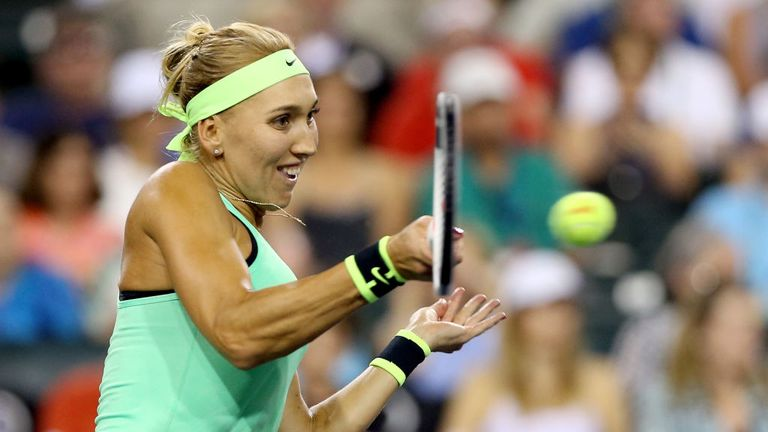 Elena Vesnina was unable to follow up her title success of Indian Wells in  Miami,
