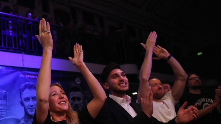 Ellie Goulding was at York Hall to cheer on Isaac Chamberlain