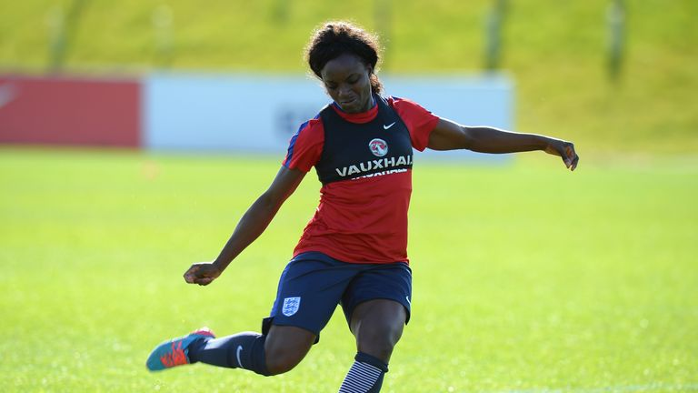 Aluko was joint top scorer during qualifying for the 2015 Women's World Cup