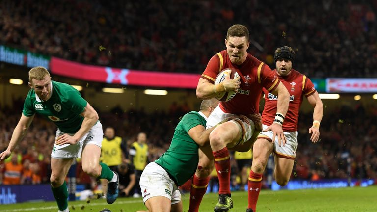 George North scored two tries against Ireland to help Wales to victory