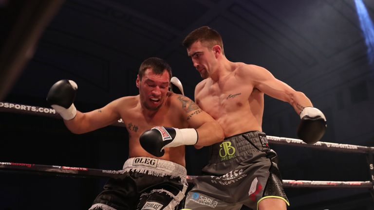 Jake Ball returned with a  swift victory after first professional defeat in November