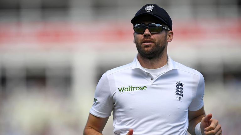 James Anderson is back in action for Lancashire