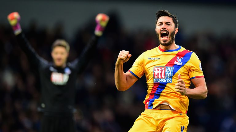 James Tomkins celebrates in front of the following Palace fans