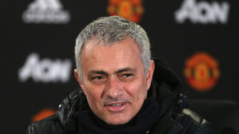 Jose Mourinho was in high spirits when he met the press on Friday