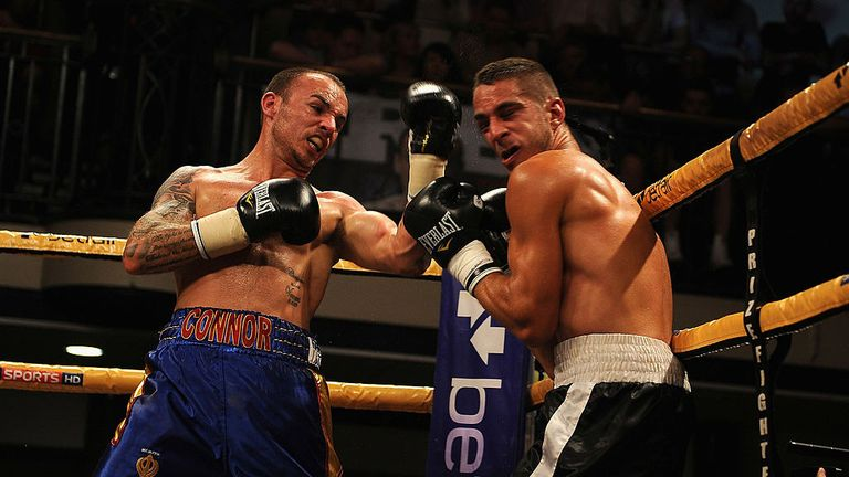 Kevin Mitchell won is last York Hall fight - with Tony Sims back in his corner