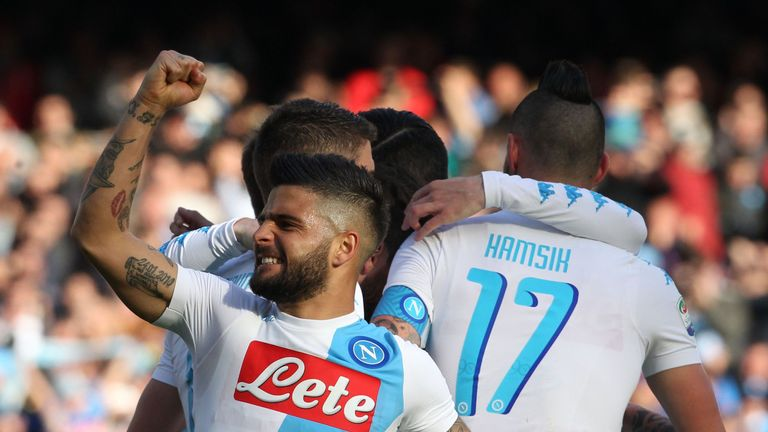 Lorenzo Insigne scored for Serie A leaders Napoli