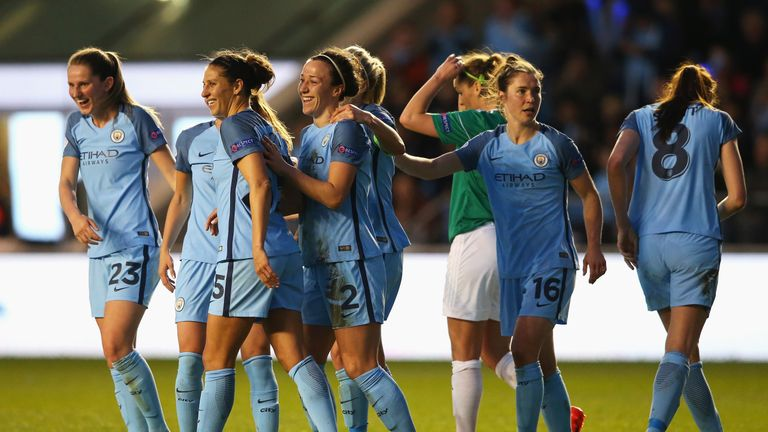 Manchester City Women are into the last four of the Champions League