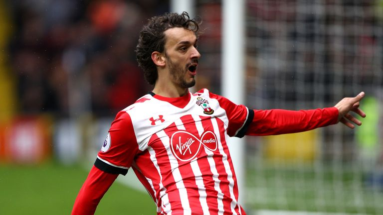 Southampton striker Manolo Gabbiadini has scored six goals already in his short Saints career