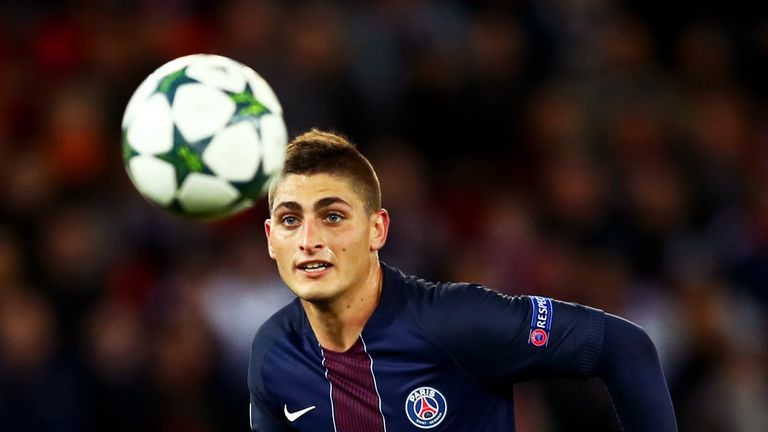 PSG midfielder Marco Verratti has attracted attention from Barcelona
