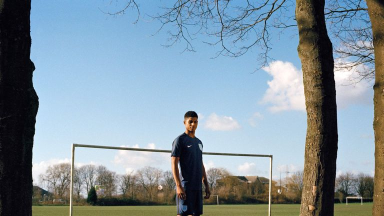 From park to the Wembley turf, Marcus Rashford's dream has become a reality. Pic: Lottie Bea Spencer for Nike