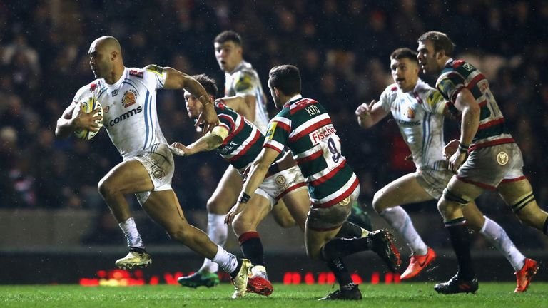 Exeter beat Leicester 34-15 on Friday night