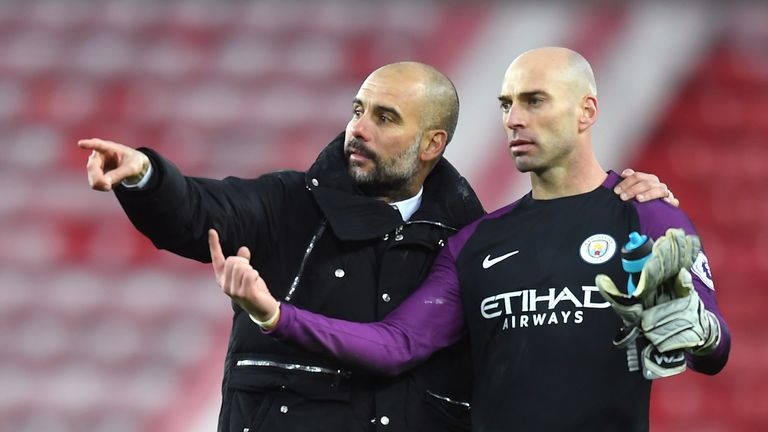 Willy Caballero was one of four players released by Manchester City