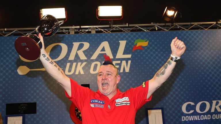 Peter Wright was champion in Minehead last year but suffered third-round defeat on Friday