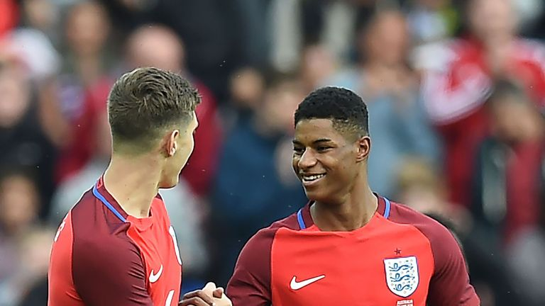 Rashford netted on his England debut against Australia
