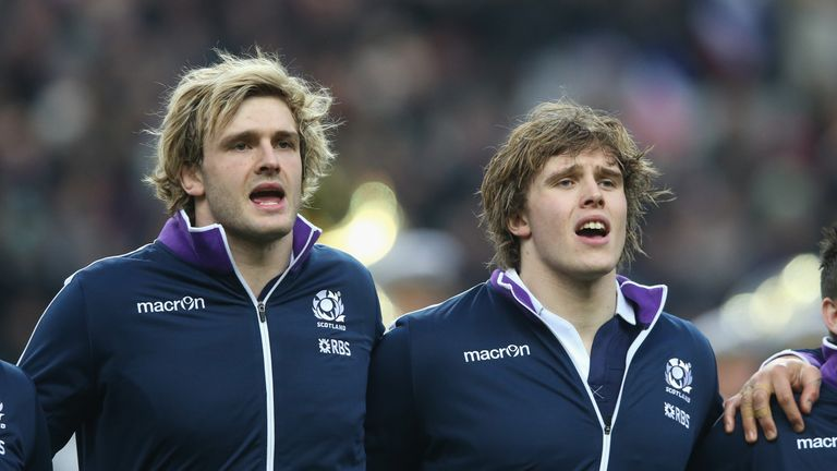 Richie Gray (left) and brother Jonny have missed out on selection