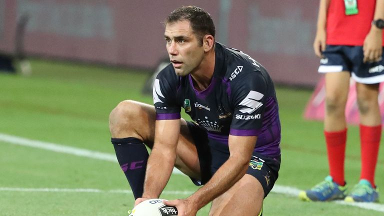 Cameron Smith kicked the winning conversion against Brisbane