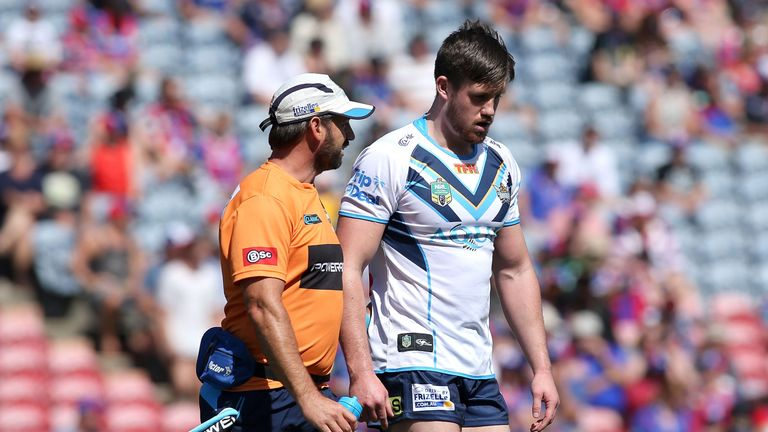 Joe Greenwood refused to leave the pitch after suffering a head knock against Parramatta
